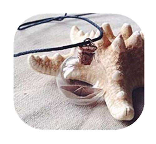 Diseño náutico de collar, collar, collar de Origami barco mar joyas