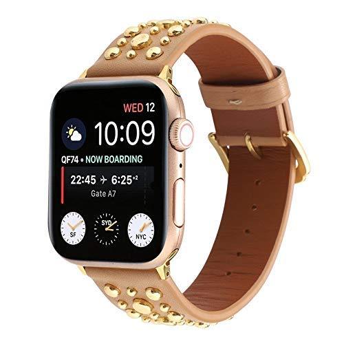 BANDS Compatible con Apple Watch 38mm 40mm 42mm 44mm Correa de acero inoxidable Reemplazo de reemplazo Banda Sport Sport Soft transpirable para iWatch Series 6 / SE / 5/4/3/2/1 para mujeres Hombres Ch