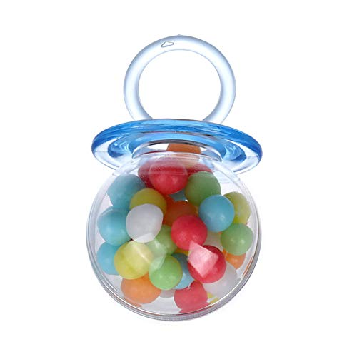 12 pcs caixas de doces transparentes, caixa de plástico portátil, festas de festival para casamento favor(blue)