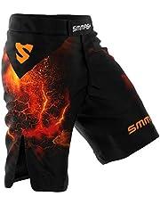 SMMASH Diablo Deporte Profesionalmente Pantalones Cortos MMA para Hombre, Shorts MMA, BJJ, Grappling, Krav Maga, Material Transpirable y Antibacteriano