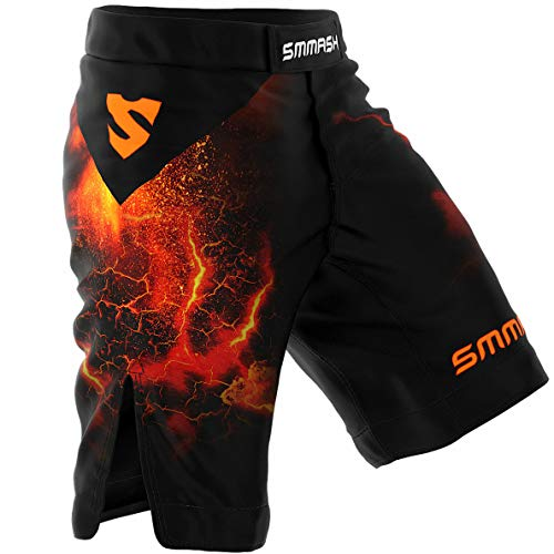 SMMASH Diablo Pantaloncini Professionali MMA Uomo, Shorts MMA, Kick Boxing, K1, UFC, Boxe, Grappling, Krav Maga, Antibatterico Pantaloncini Uomo Sportivi, Prodotto nell'Unione Europea (M)