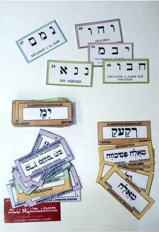 Etiquetas de PENDULO HEBREO 2º Nivel 72 nombres de Dios (camisas) Paquete Básico