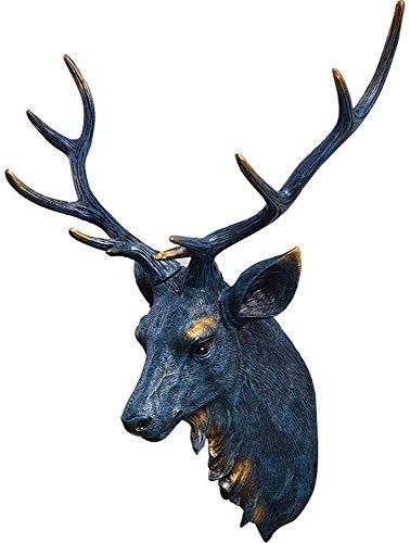 Suge Decoración de la Pared, Animales de simulación 3D Ciervos Cabeza Colgante, Que Viven Sala de Estudio hogar de la Resina Fondo de la Pared artesanía Escultura