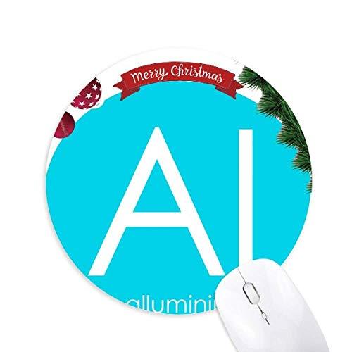 Chemie Elemente Periode Tabelle arme Metalle Aluminium Al Rundgummi Maus Pad Weihnachtsbaum Mat