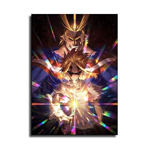 Póster de anime My Hero Academia All Might en lienzo y...