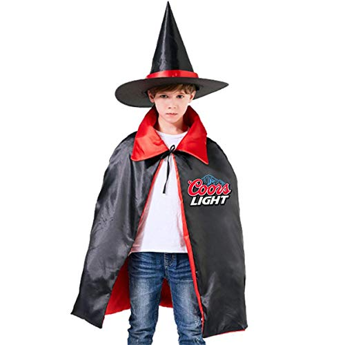 Popular American Coors Light Logo Unisex Kids Hooded Cloak Cape Halloween Party Decoration Role Cosplay Costumes Outwear Red