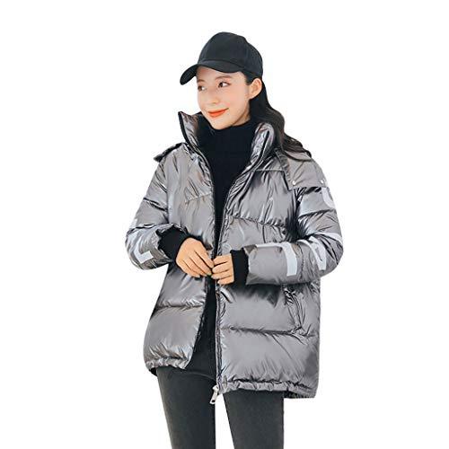 Daysing Damen Winterjacke Daunenjacke Dicke warme Windjacke Übergangsjacke abnehmbare Kappe Mode Mantel Wasserdicht Daunenmantel