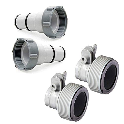 Intex Replacement Hose Adapter A (2 Pack) + Replacement Hose Adapter B (2 Pack)