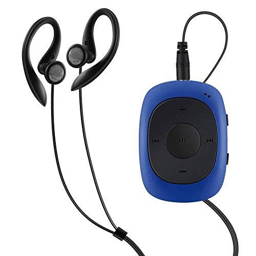 AGPTEK Mini Clip 8GB MP3 Player mit Bügel-Kopfhörer und Silikon Hülle, Leichter Sport Musik Player mit 5 Tasten und 2 Funktionsumschaltung Knöpfe, (Verpackung MEHRWEG) Blau