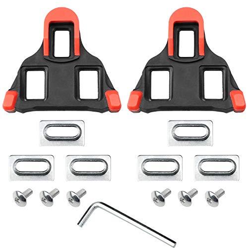 Hrroes 1 Par Tacos de Bicicleta Tacos de Pedal de Bicicleta para Ciclismo de Carretera con Zapatillas de Sistema Shimano SH-11 SPD-SL Con llave, Tornillos y Arandelas (7x8 cm)