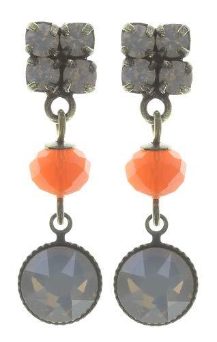 KONPLOTT Chameleon Ohrstecker, Glas orange - 5450543720647