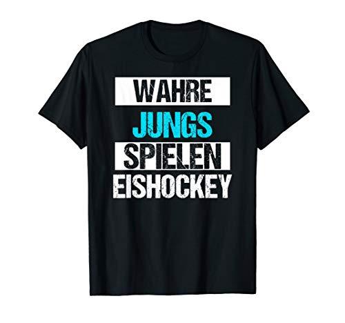 Jungen Eishockey Sport Weihnachts Geschenk Lustiges Shirt T-Shirt
