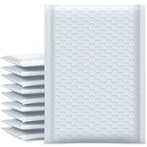UCGOU Bubble Mailers 6x10 Inch White 25 Pack Poly Padded Envelopes Small Business Mailing Packages Opaque Self Seal Adhesive Waterproof Boutique Shipping Bags for Jewelry Makeup Supplies #0