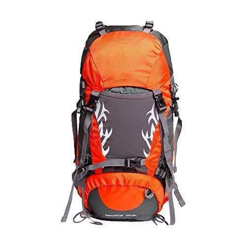 SSDAOO 50L Outdoor Cycling Rucksack Tourist Camping Bergsteiger Tasche Große Kapazität Ripstop Rucksack Nylon Rucksack,Orange