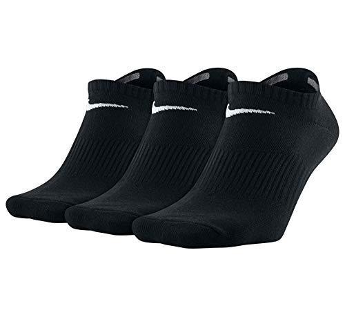 Nike Lightweight No-Show - Calcetines (3 unidades) blanco/negro XL