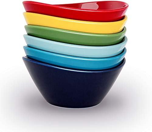 KitchenTour Porcelain Bowls Set 18 Ounces Dishwasher and Microwave Safe Bowls for Cereal Salad product image