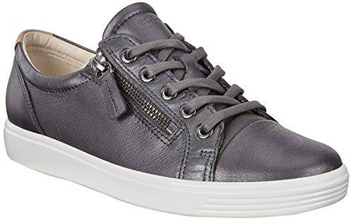 ECCO Damen Soft 7 Ladies Sneaker, Grau (Black Dark Shadow Metallic 51383), 36 EU