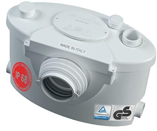 Planus Spa-Broysan 4 UP-IP68 Cassetta Trituratrice WC, Antiodore e Silenzioso, Certificazione IP68, 230 V, Bianco