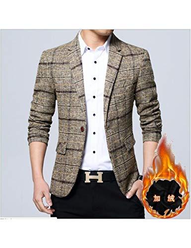 SHANGYI jas mode heren blazer herfst slanke versie pak pak jas warm formele blazer