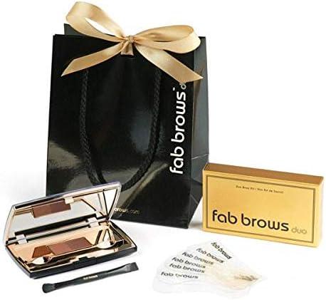 Fab Brows Duo Eyebrow Kit - Light / Medium Brown