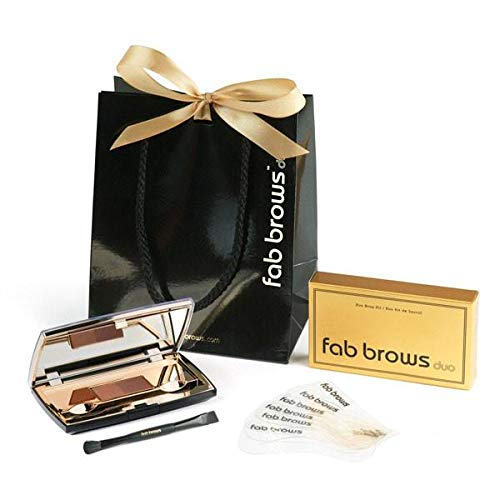 Fab Brows Duo Eyebrow Kit - Light / Medium Brown Makeup Kits Eye Brow Stencil Contour Palette Cosmetics Powder for Women