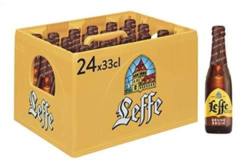 Leffe Brune Flaschenbier, MEHRWEG (24 x 0.33 l) im Kasten, Dunkles Abteibier aus Belgien