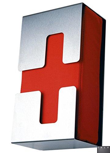 Radius Design verbandkasten, Privatbereich Edelstahl, nylonstoff