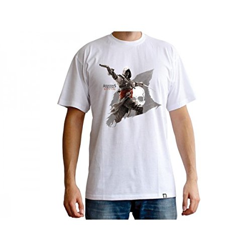 ABYstyle - Assassin's Creed - Tshirt Edward Flag Homme White (L)