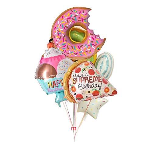 Decoración De Papel Partido Donut Banner Taza De Papel Platos De Servilleta Feliz Cumpleaños Aniversario Baby Shower Candy Bar Decoración De Fiesta Donut Party