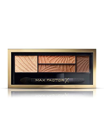 Max Factor Smokey Eye Drama Kit Sumptuous Golds 03 – Lidschatten-Palette mit 4 goldenen Tönen mit mattem und schimmerndem Finish – Schmeichelt grünen Augen