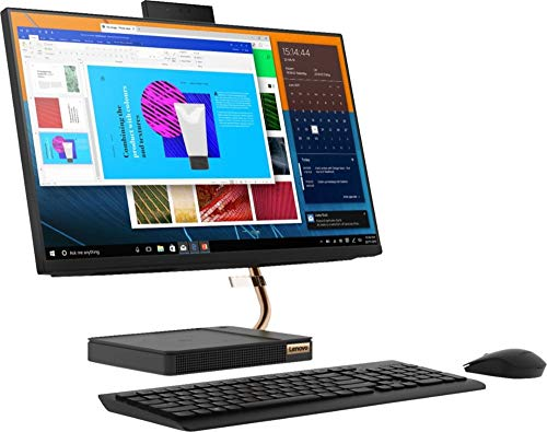 """Lenovo 24"""" FHD (1920 x 1080) IPS Touchscreen All-in-One Ideacentre A540 with AMD Qaud Core Ryzen 5 3400GE Processor up to 4.0 GHz, 12GB DDR4 RAM, 128GB PCIe SSD, and 2TB Traditional Hard Drive"""