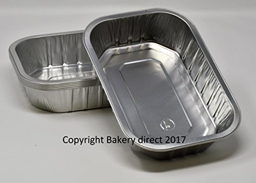 Bakery-Direct- 25 Aluminium-Foil-Tin-Strong-Disposable-Baking-Tray-Loaf-Pan-Dish-Without-lids for sale  Delivered anywhere in UK