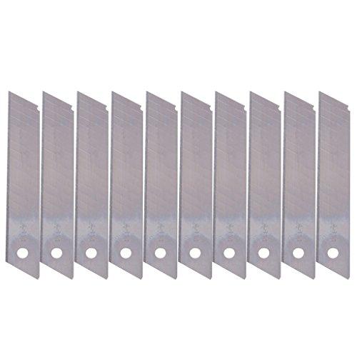 Exing 10 Pcs/Boîte Lames de Remplacement Cutter Snap Off 9mm Céramique Utilitaire Lames de Couteau