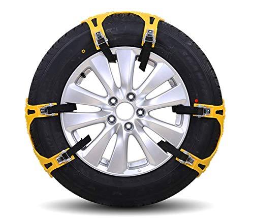 TIAOQING Anti-Skid-Kette, Gummischnatenkette, Geländewagen, Universal-Auto-Reifen-Schleuderkette, Auto-Notfallschneefahrerehne