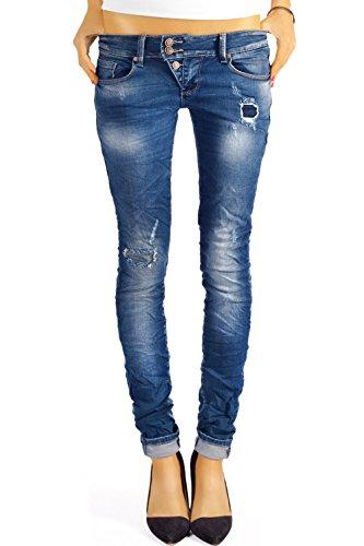 bestyledberlin Damen Jeans Hosen Skinny Röhren Hüftjeans Destroyed j03f 38/M