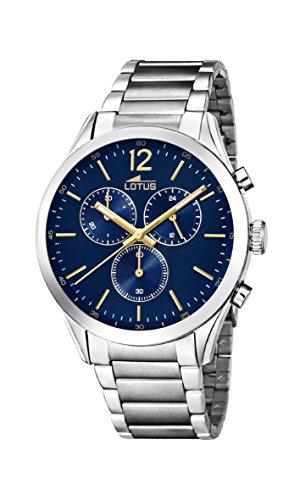 Lotus Watches Reloj Cronógrafo para Hombre de Cuarzo con Correa en Acero Inoxidable 18114/3