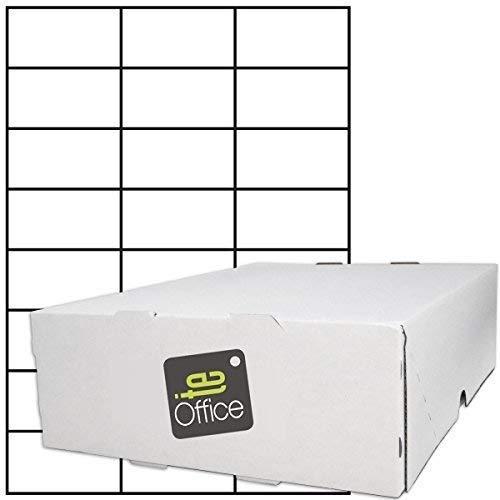 TE-Office 12000 Unidades Etiquetas adhesivas Etiquetas adhesivas Etiquetas de envío en A4 Arco blanco mate 70 x 37 mm Láser Inyección de tinta