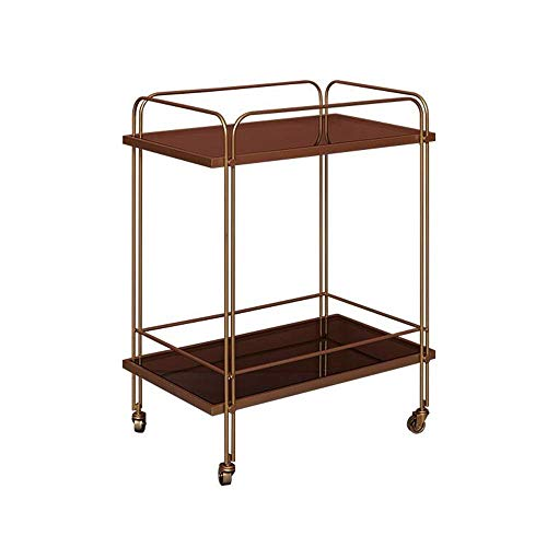 Tavolino da salotto, Tavoli Tavolino da salotto in ferro battuto in metallo, Scaffale da soggiorno, Carrello con carrucola, Scaffale a due piani, Macchina da pranzo mobile, Tavolino da bar Tavolino Co
