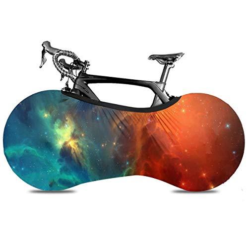 Colorido Cielo Noche Estrellada Portátil Cubierta de Bicicleta Interior Anti Polvo Alta Elástica Rueda Cubierta De Bicicleta De Protección Rip Stop Neumático Carretera Mtb Bolsa De Almacenamiento, Nebulosa colorida1, talla única