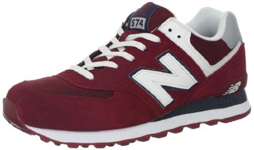 New Balance Herren 574 Core Sneaker, Rot Burgundy, 43 EU