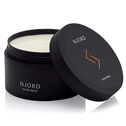 NJORD Hair Wax, Cire Cheveux, Cire Coiffure Crémeuse pour l'Homme - l'Argile Coiffante - Fixation Forte, Cadeau Homme, 100ml