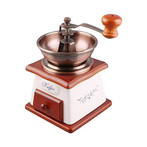 YXZQ Kaffeemaschine, kompakte manuelle Kaffeemaschine Tragbare und einstellbare manuelle Kaffeemühle Premium Handkurbelmühle für Home Office Travel Outdoor