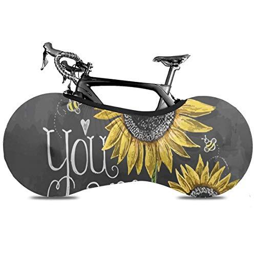 Housse de protection rustique pour vélo d'intérieur - Anti-poussière - Élan et cerf Taille unique You Are My Sunshine Sunflower