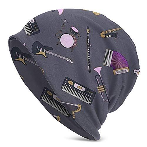 Elektrische Saxophon Violine Unisex Beanie Cap Skull Cap Kopfbedeckung Winter Warm Strickmütze