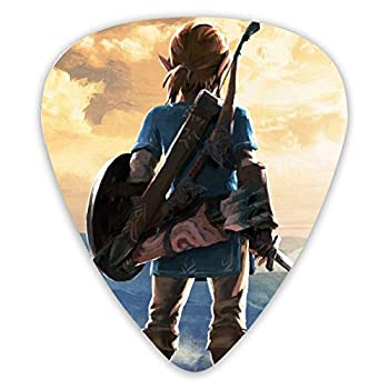 Guitar Picks Link The Legend Of Zelda  Breath Of The Wild Unique Guitar Gift Set For Bass Electric & Acoustic Guitars  12 Count Includes Thin Medium Heavy