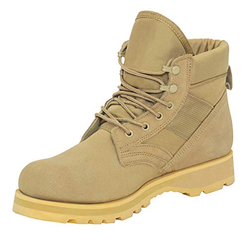 Rothco Military Combat Work Boots, 10, Desert Tan