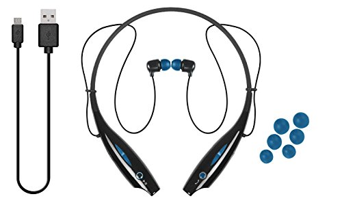 iJoy LGO-NCB-TRE Logo Premium Wireless Active Bluetooth Neck Band Headset Retail Packaging (Blue)