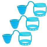 DrafTor 3 Stück Vape Band mit Kappe für Verdampfer aus Silikon Anti Slip Mundstück für TFV8,TFV8 BABY,TFV8 Big baby, TFV12, Fetten Zerstäuber(Blau)
