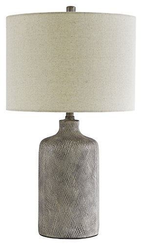 Signature Design by Ashley L117964 Linus Table Lamp, Ceramic, Antique Gray