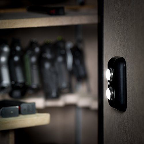 Gun Safe Light with PIR Motion Sensor Light Activation - Two Adjustable and Rotatable LED Lens for Directional Lighting Inside Your Safe